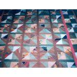 Patchwork niebiesko czerwone trójkąty
